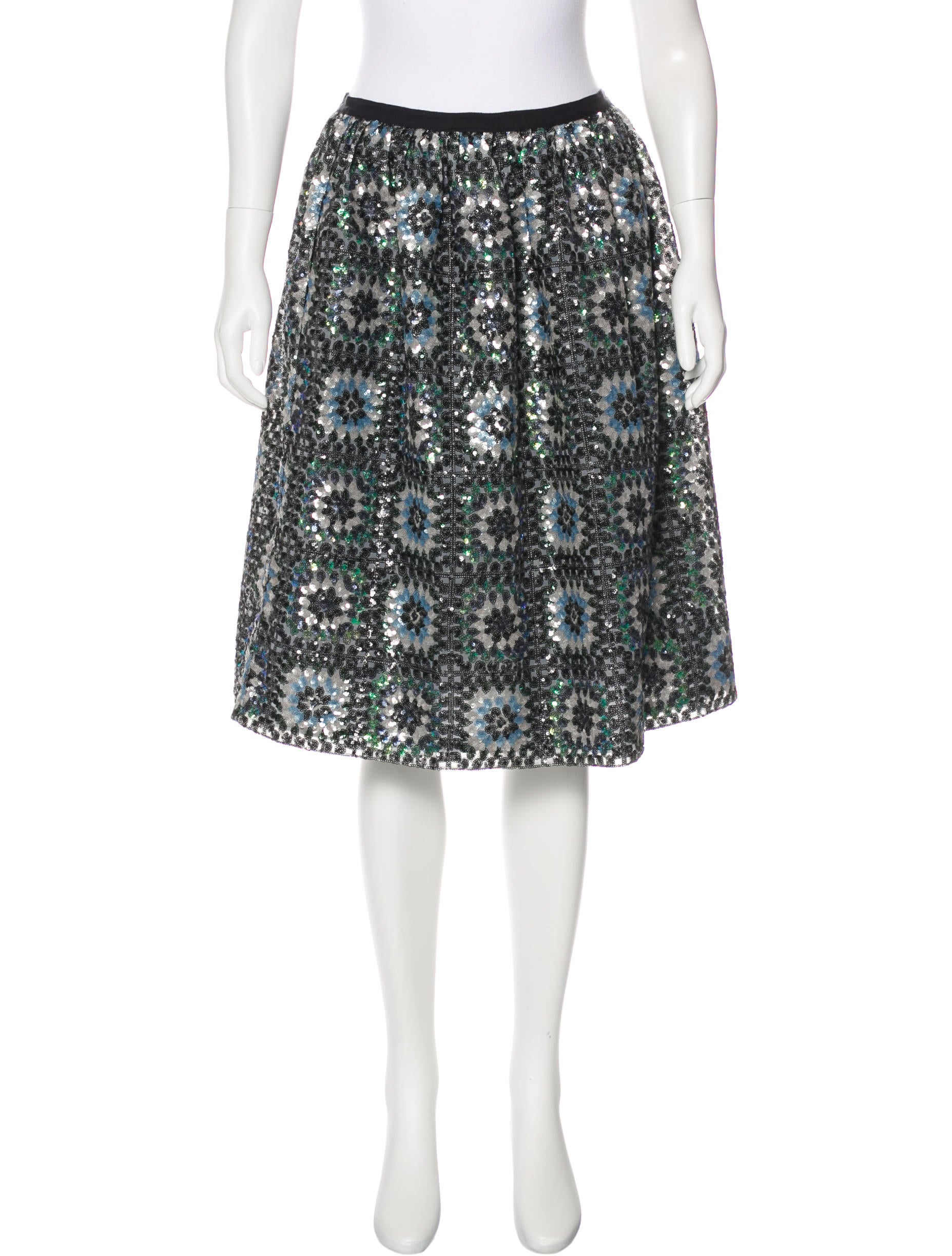 manoush sequin knee length skirt clothing mnh20070