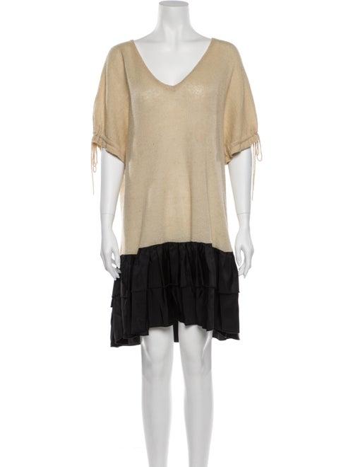 Manoush Colorblock Pattern Mini Dress