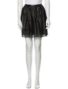 Manoush Leather Mini Skirt