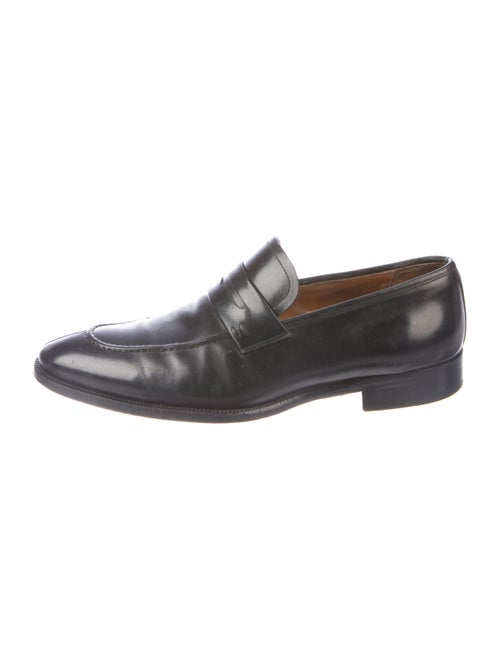 Magnanni Leather Penny Loafers black