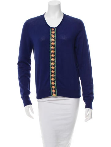 Mantu Bead-Embellished Long Sleeve Cardigan