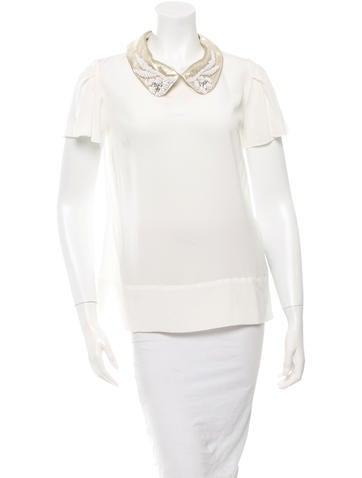 Mantu Embellished Collar Top w/ Tags