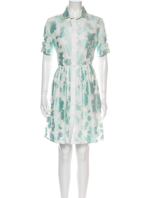 Mantu Floral Print Mini Dress Blue