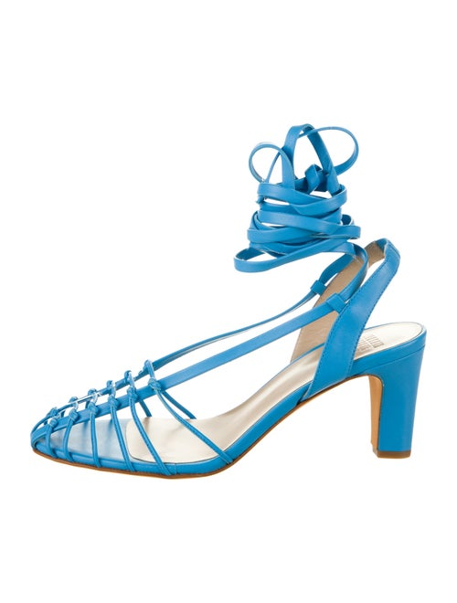 Maryam Nassir Zadeh Leather Cage Sandals Blue