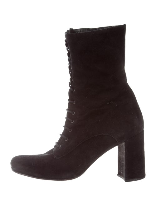 Maryam Nassir Zadeh Suede Square-Toe Mid-Calf Boot