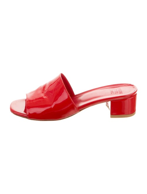 Maryam Nassir Zadeh Patent Leather Slide Sandals r