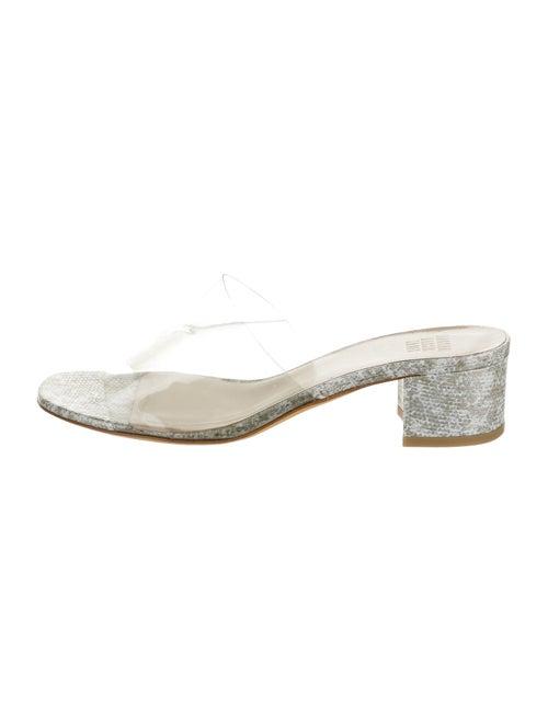 Maryam Nassir Zadeh Embossed Slides Grey