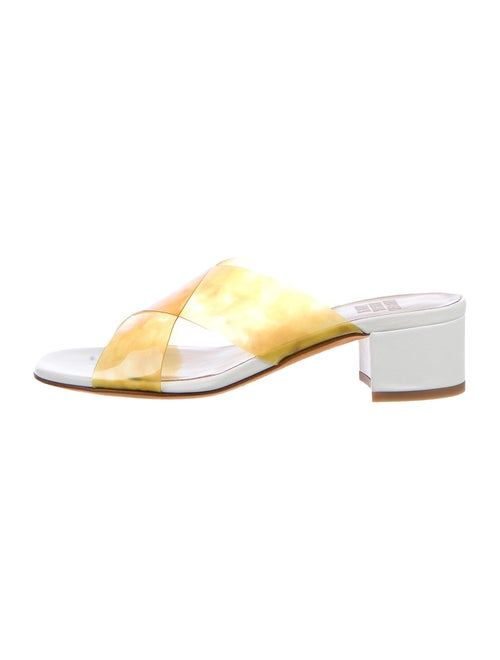 Maryam Nassir Zadeh Leather Slides White