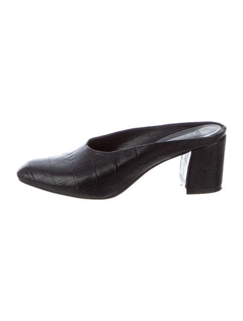 Maryam Nassir Zadeh Maryam Leather Mules Black