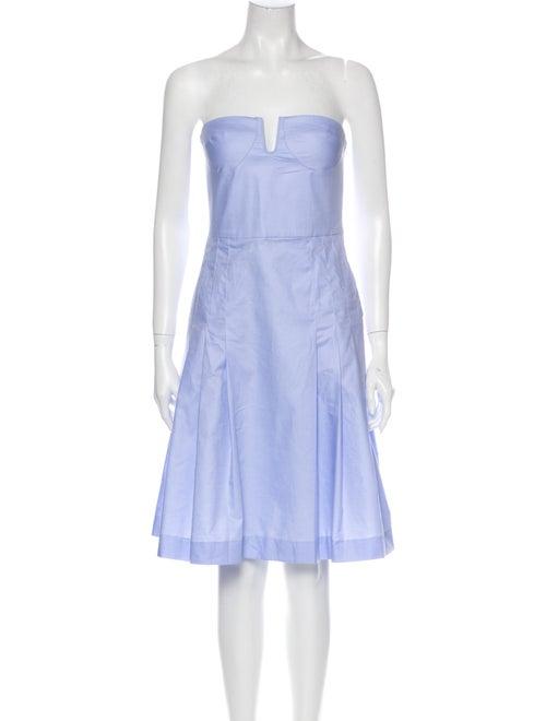 Maryam Nassir Zadeh Strapless Mini Dress Blue