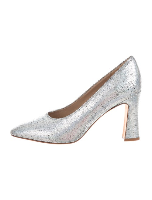Maryam Nassir Zadeh Leather Pumps Silver