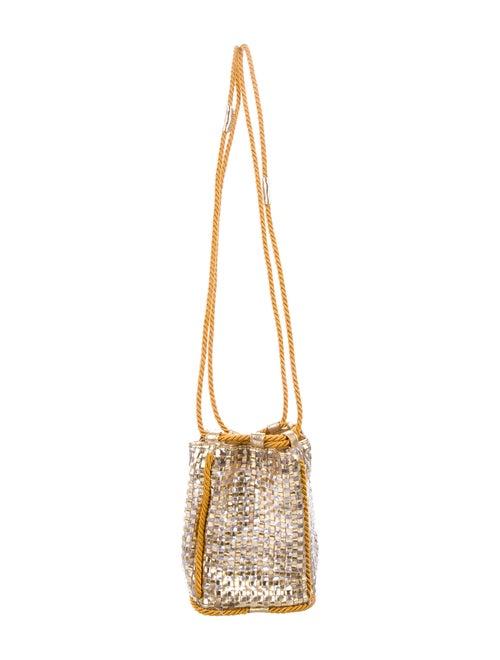 Maryam Nassir Zadeh Woven Shoulder Bag Gold