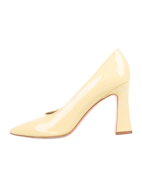 Maryam Nassir Zadeh Patent Leather Pumps Yellow