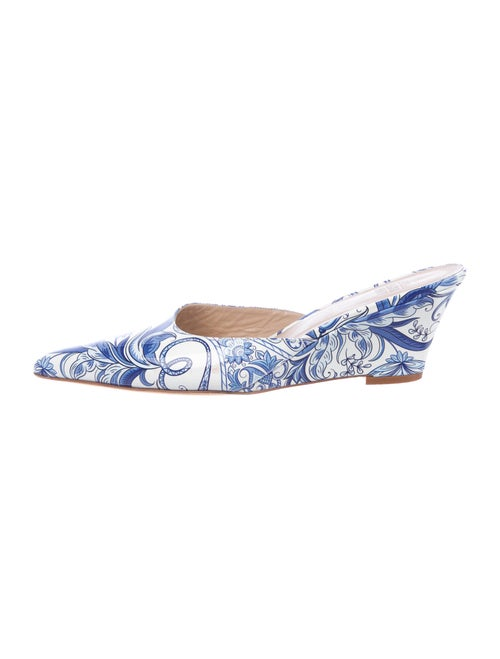 Maryam Nassir Zadeh Patent Leather Printed Mules
