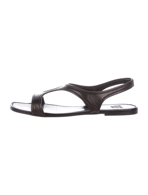 Maryam Nassir Zadeh Leather Cutout Accent T-Strap