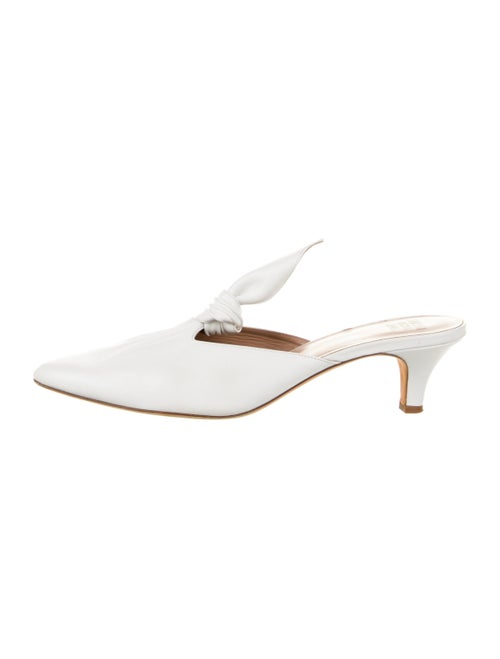Maryam Nassir Zadeh Leather Mules White