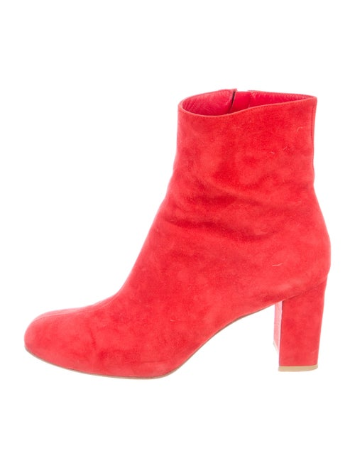 Maryam Nassir Zadeh Suede Boots Red