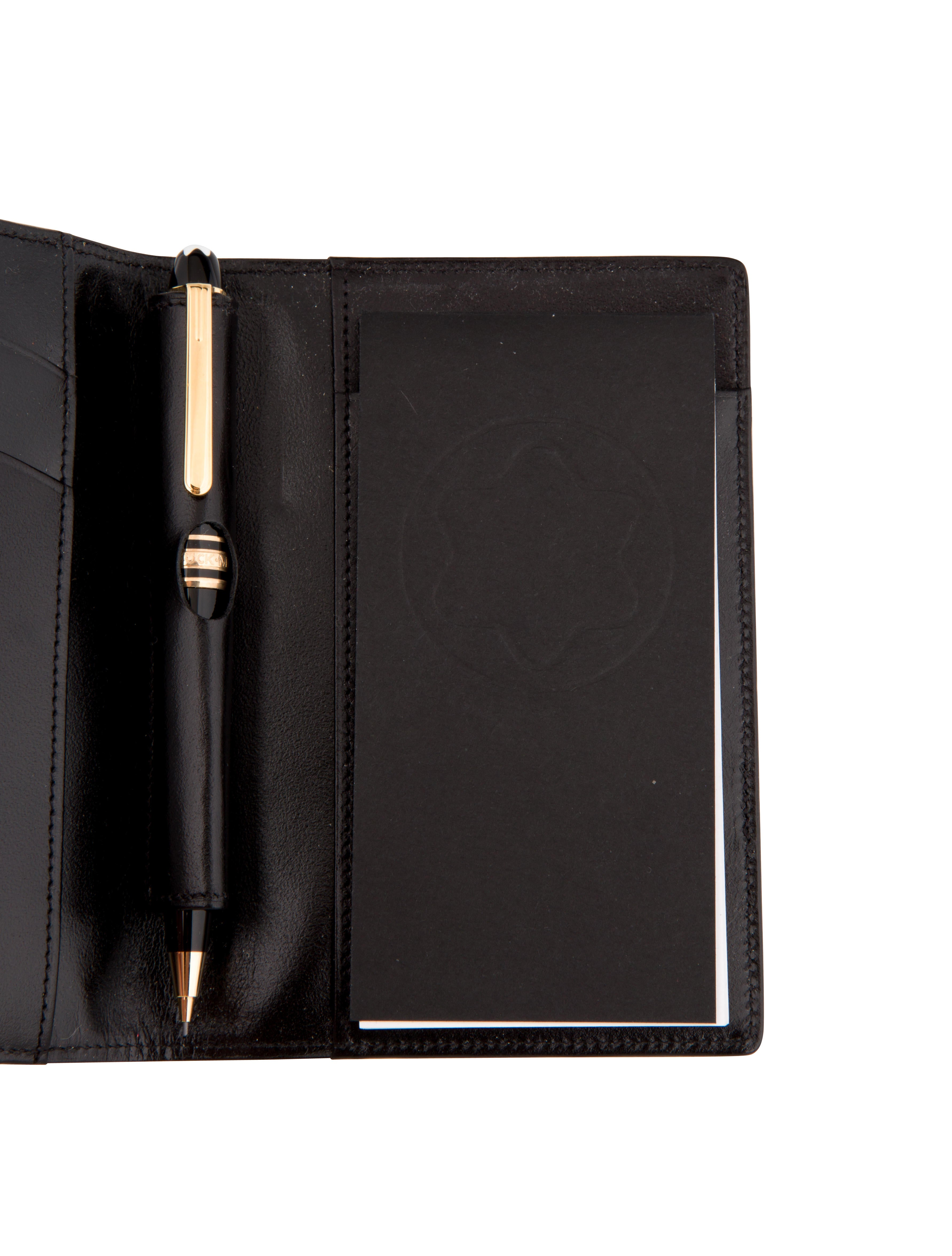 Mont Blanc Bifold Leather Notebook Decor And Accessories  : MOB203174enlarged from www.therealreal.com size 3566 x 4704 jpeg 866kB