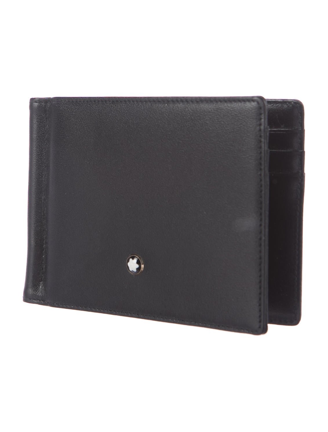 Mont Blanc Leather Money Clip Wallet
