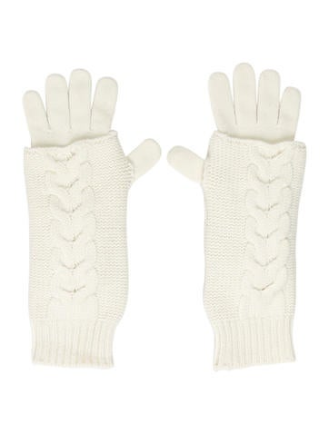 Moncler Virgin Wool Rib Knit Gloves None