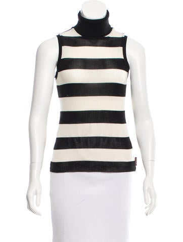 Moncler Striped Knit Top None