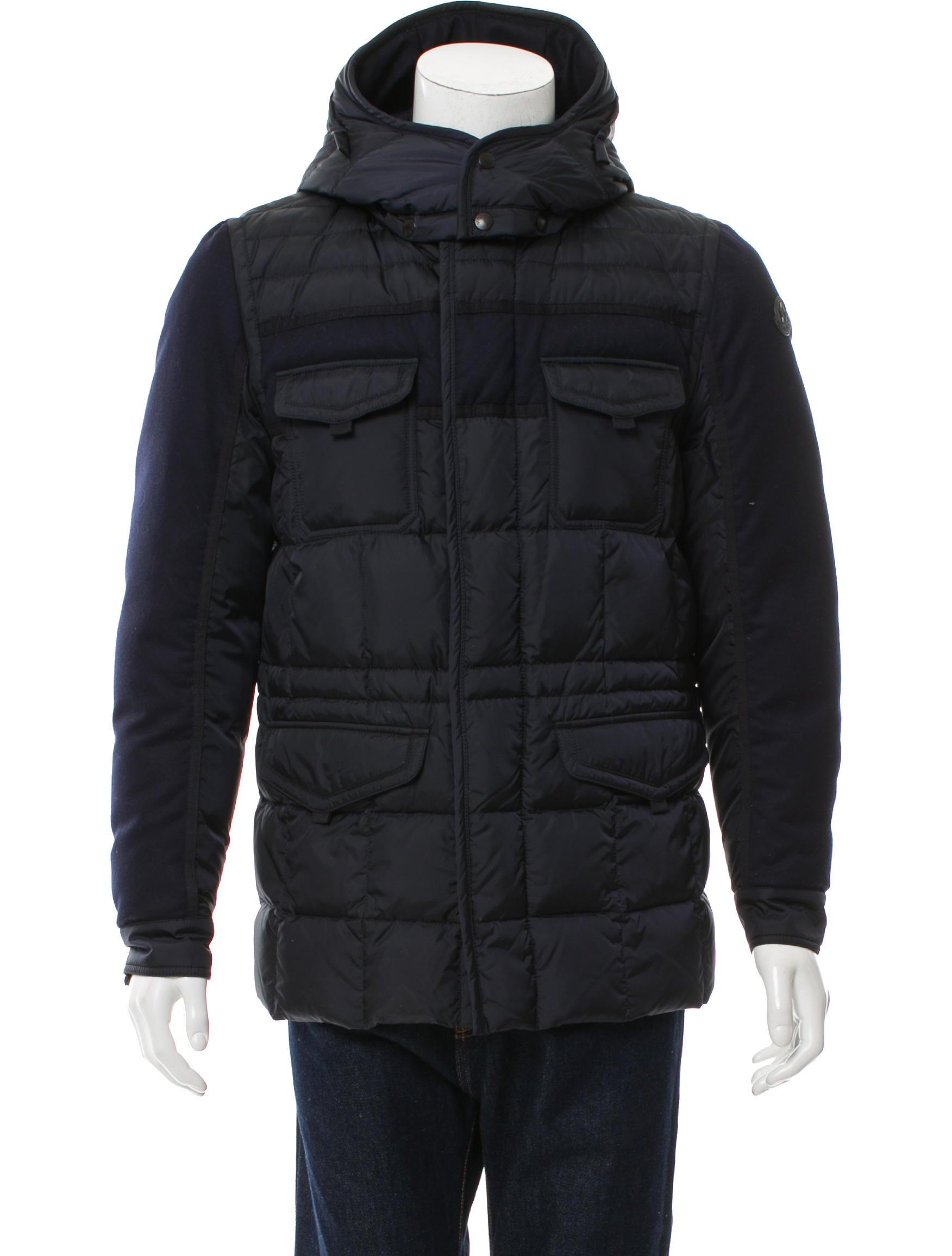 dd374305b3ede Moncler Jacob Mixed-Media Down Field Jacket - Clothing - MOC24059 ...