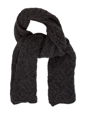 Moncler Charcoal Cable Knit SCARF None