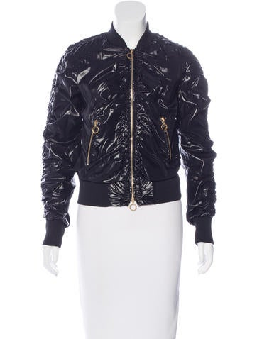 Moncler Ruched Bomber Jacket None