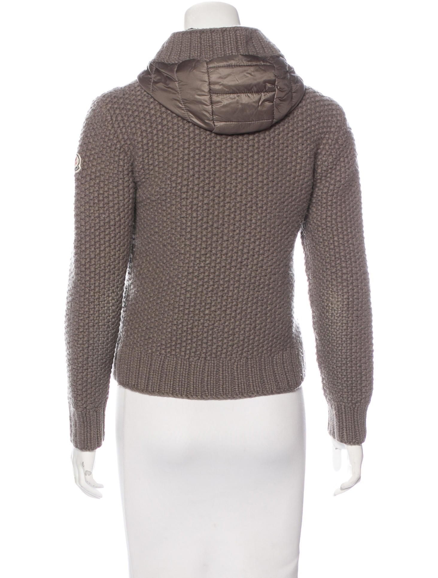 Hooded Wool Cardigan - Full Zip Sweater