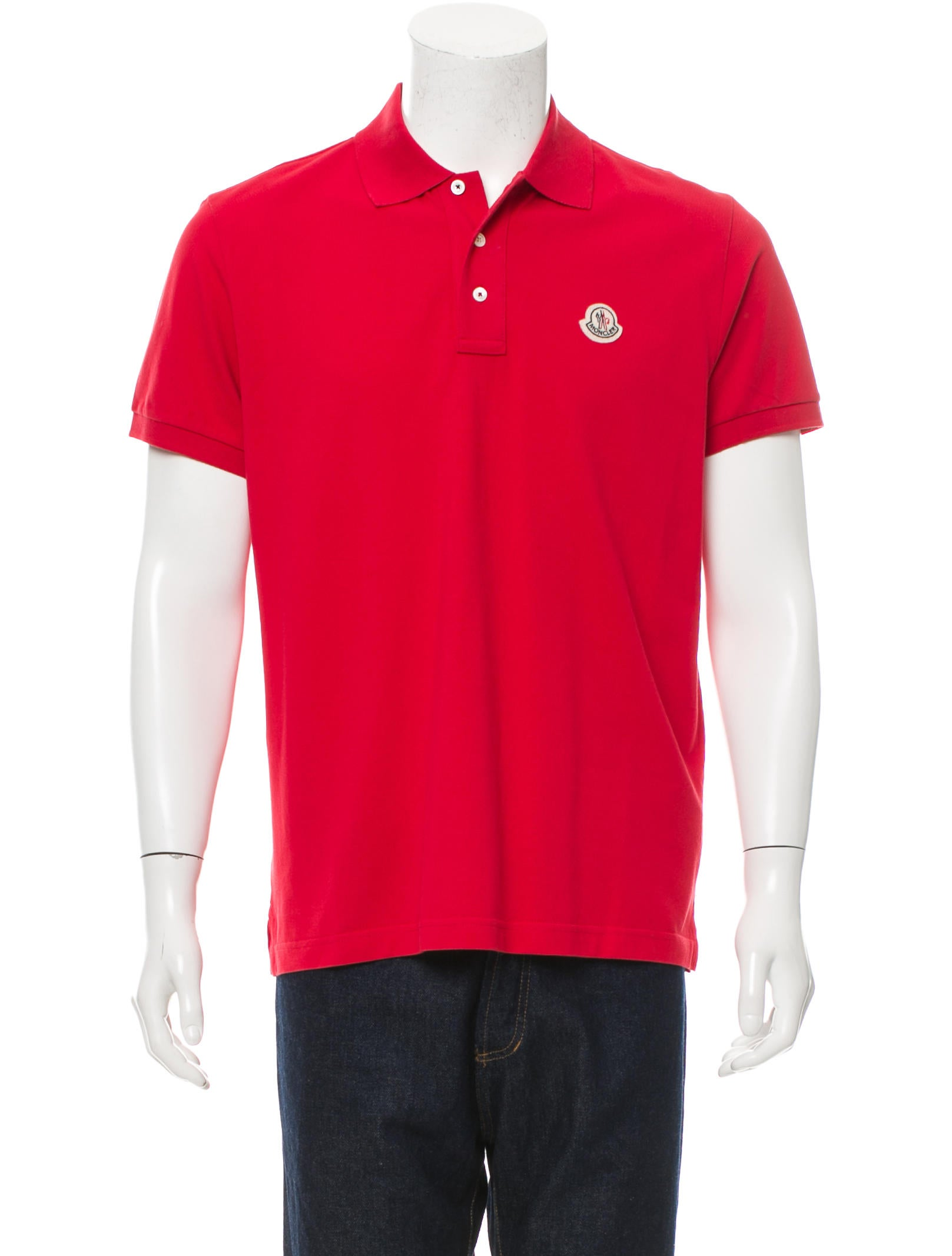 Moncler logo embroidered polo shirt w tags clothing for Polo shirts with embroidery