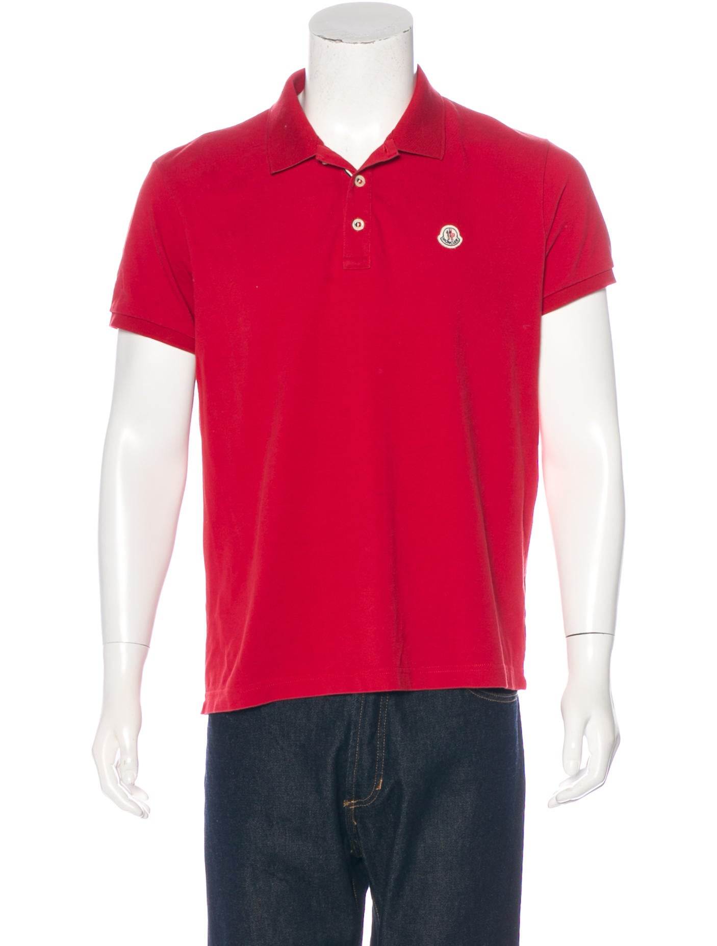 Moncler logo piqu polo shirt clothing moc25103 the for Polo shirts with logos