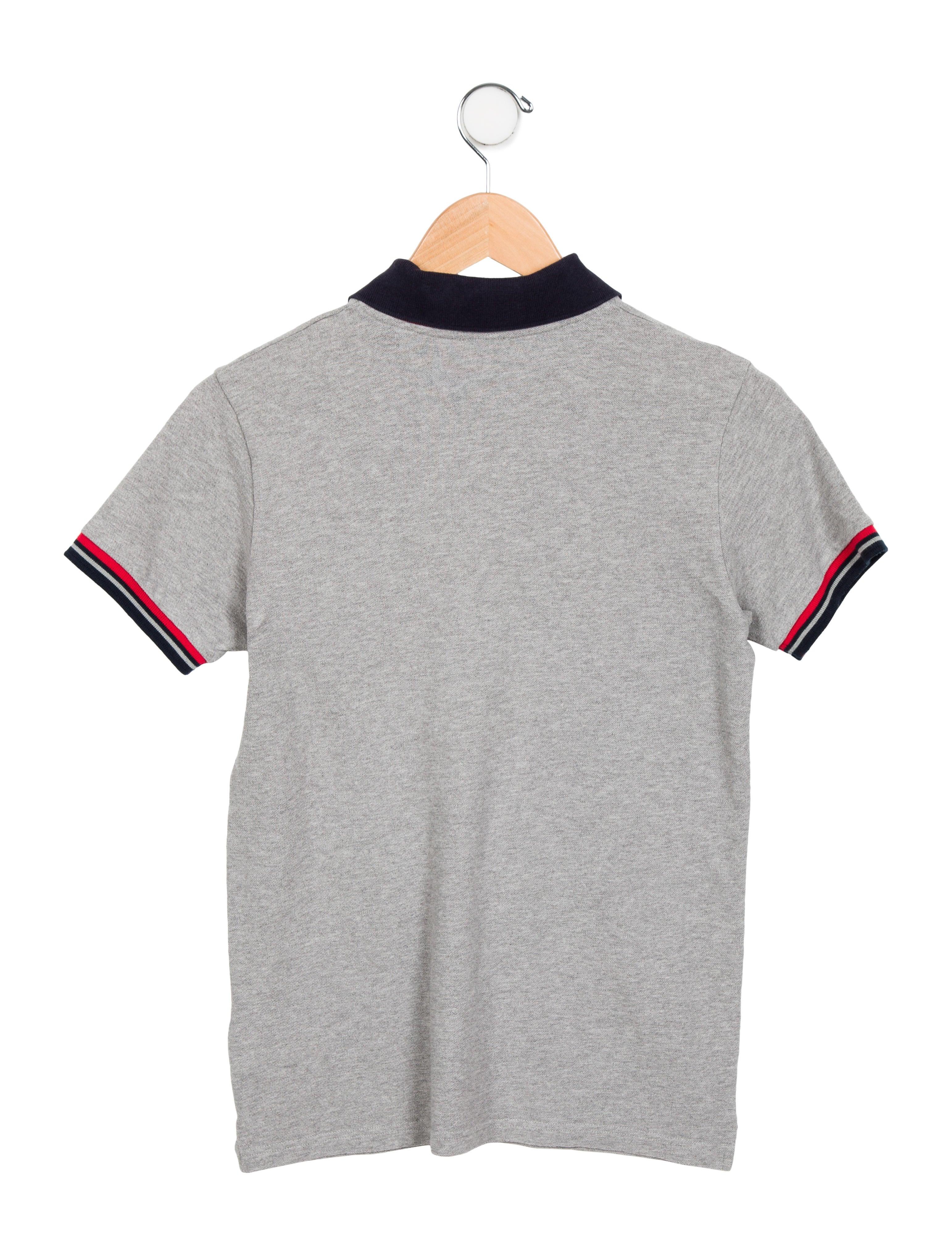 Moncler boys 39 short sleeve polo shirt boys moc25225 for Moncler polo shirt sale