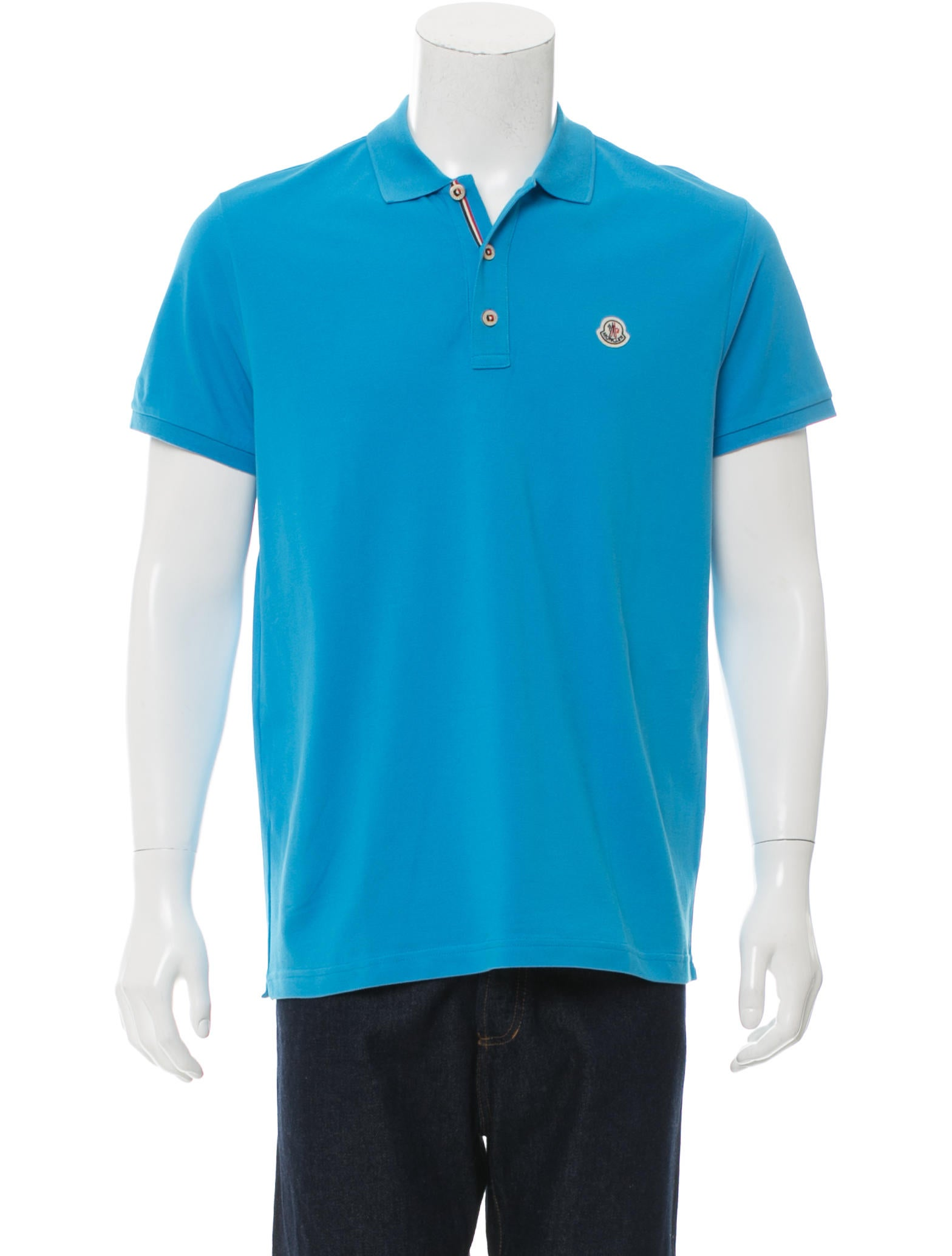 Moncler logo embroidered polo shirt w tags clothing for Embroidered logos on shirts