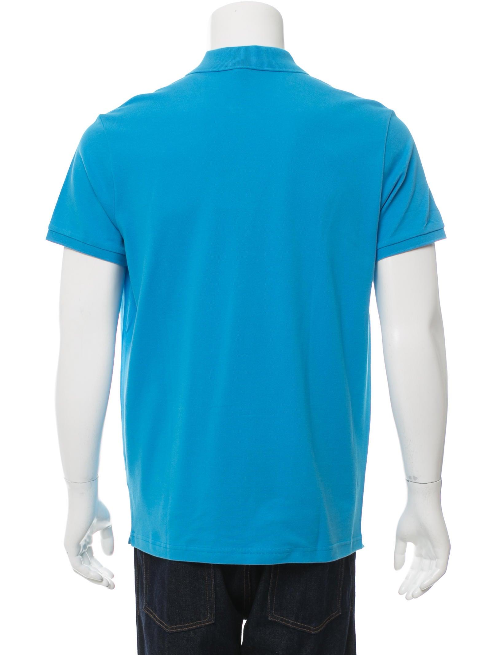 Moncler logo embroidered polo shirt w tags clothing for Logo printed polo shirts