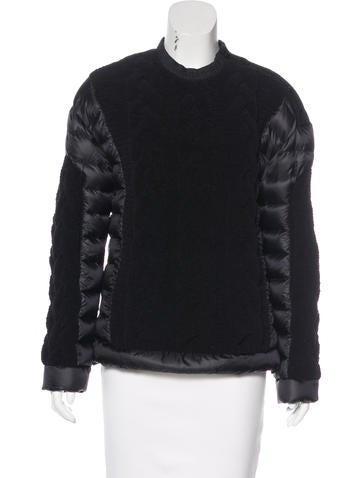 Moncler Cable Knit Puffer Sweater None
