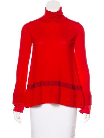 Moncler Wool Turtleneck Sweater None