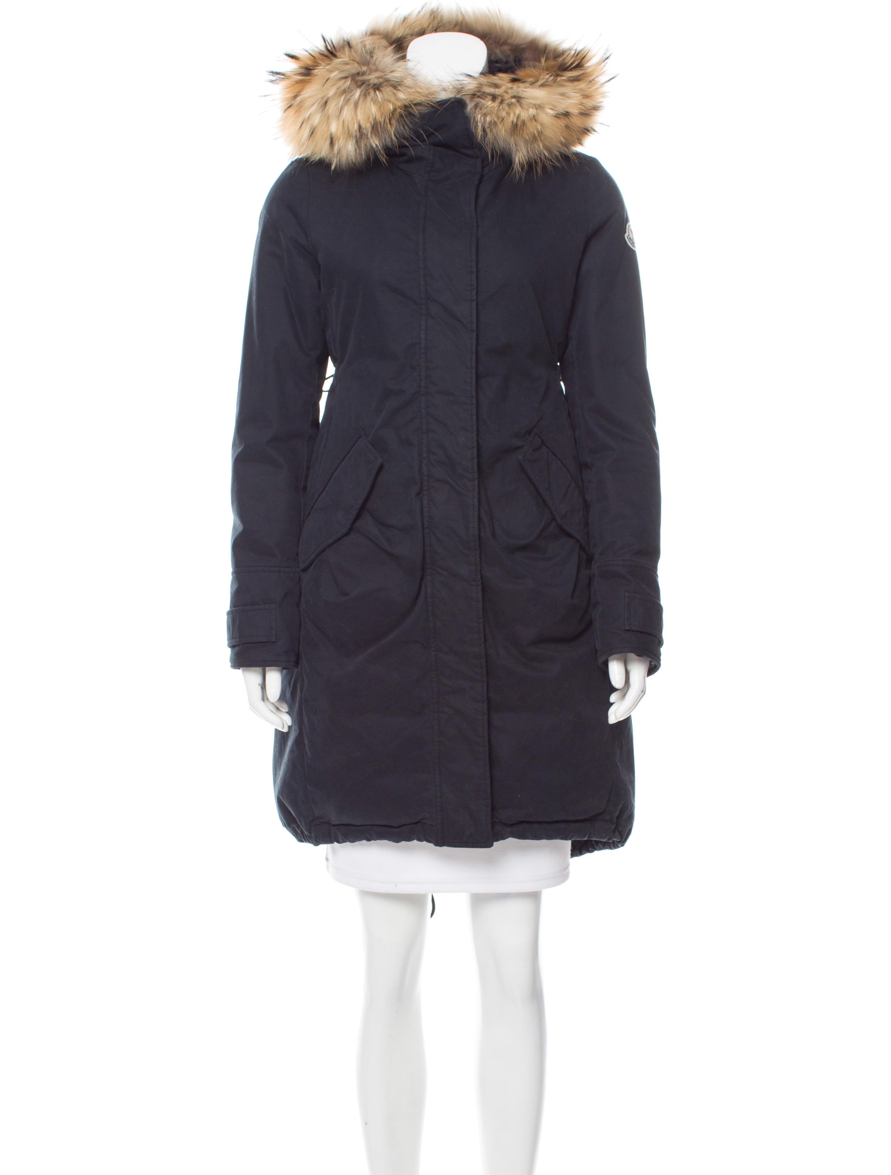 Moncler Evanthia Fur Trimmed Parka Clothing Moc26535
