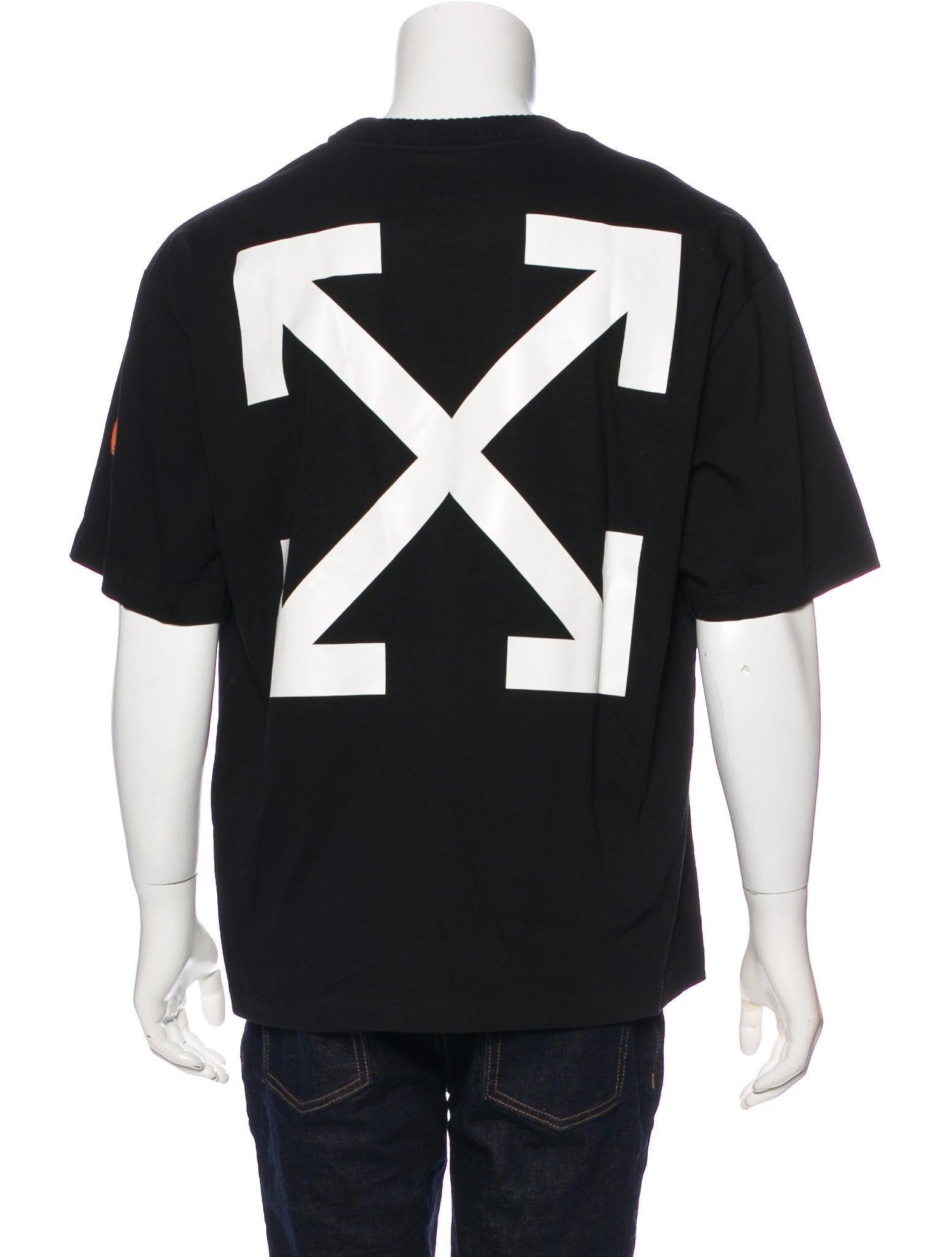 Off white x moncler black swan t shirt clothing for Off white moncler t shirt