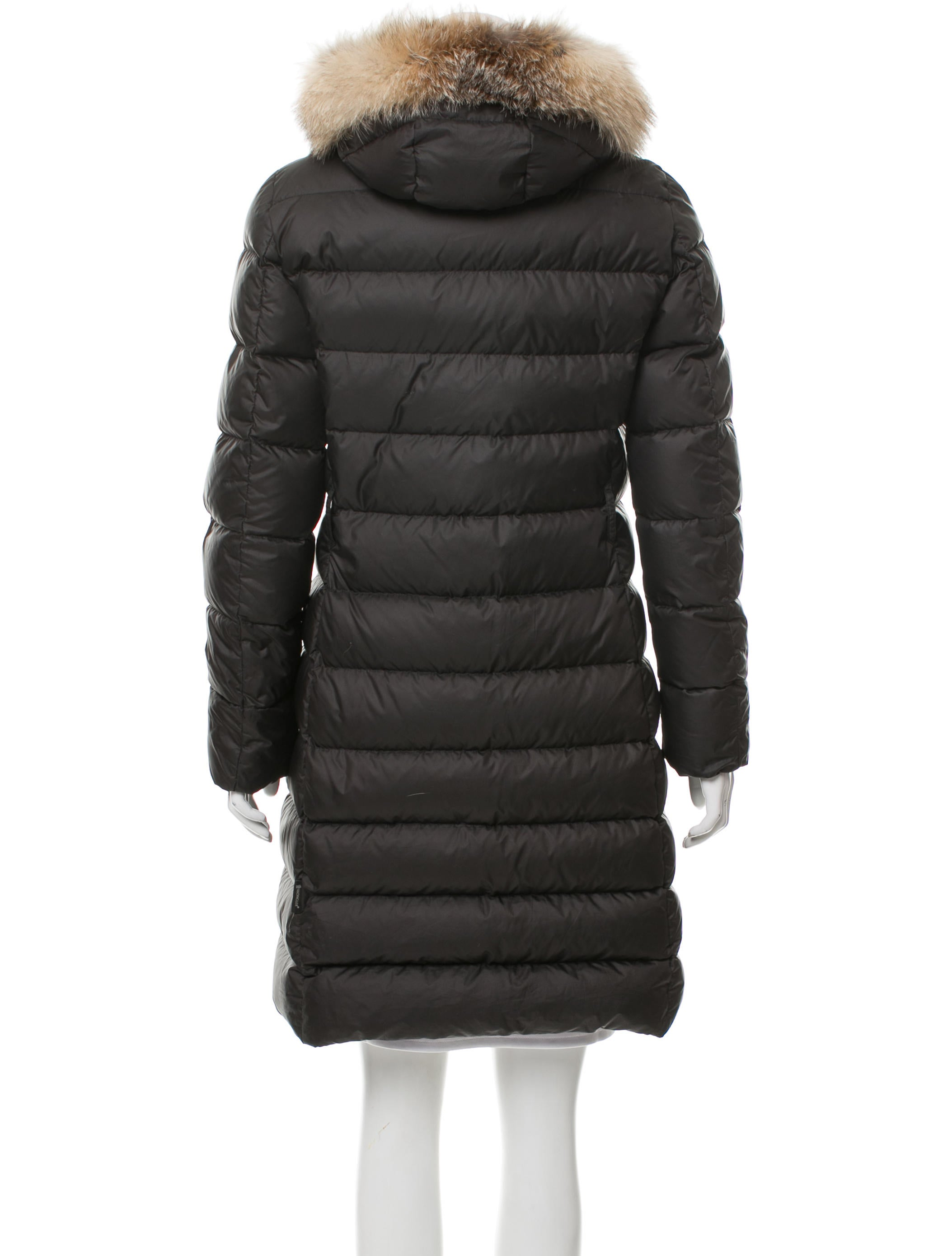 Moncler Fabrefox Fur Trim Puffer Coat Clothing MOC26824