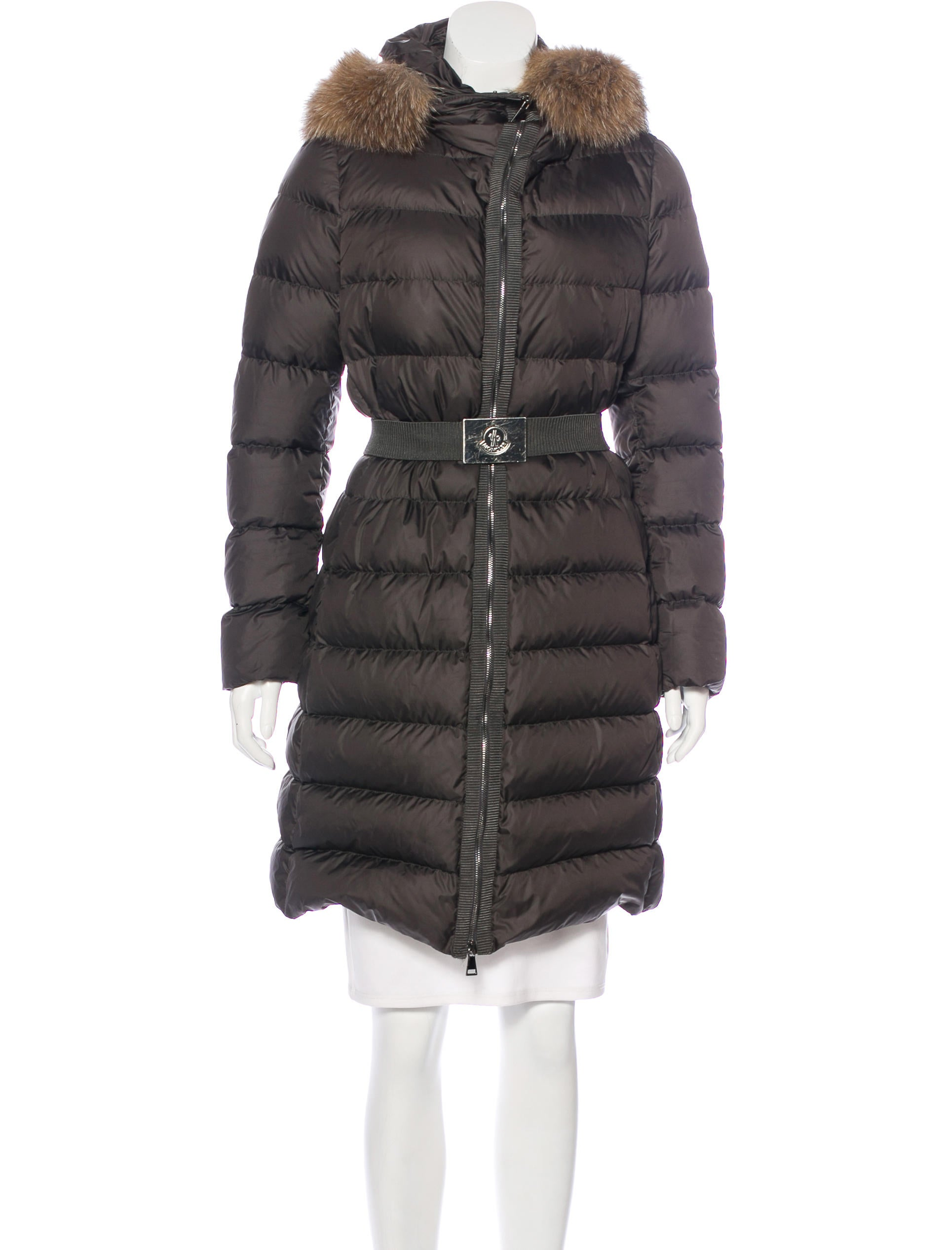 Moncler Fabrefox Fur Trimmed Coat Clothing MOC26923