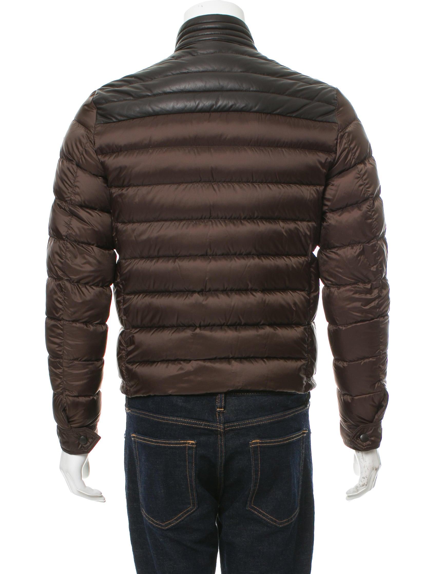 Details about Moncler Jeandat Leather Down Jacket