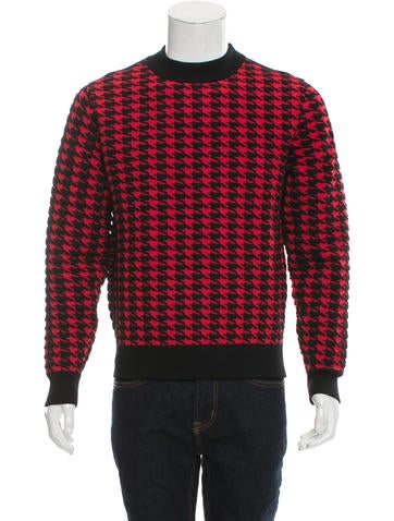 Moncler Houndstooth Wool Sweater None
