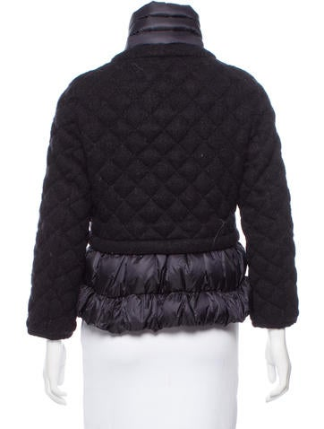 moncler black down gaufre jacket