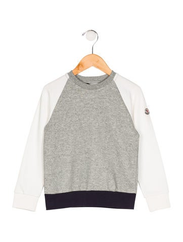 Moncler Boys' Knit Appliqué-Accented Sweater w/ Tags None