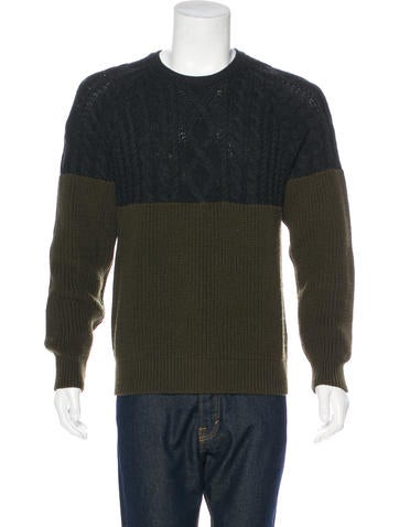 Moncler Virgin Wool Seed Knit Sweater None