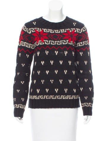 Moncler Intarsia Crew Neck Sweater None