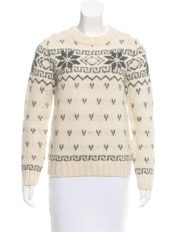 Moncler Wool Fair Isle Sweater None