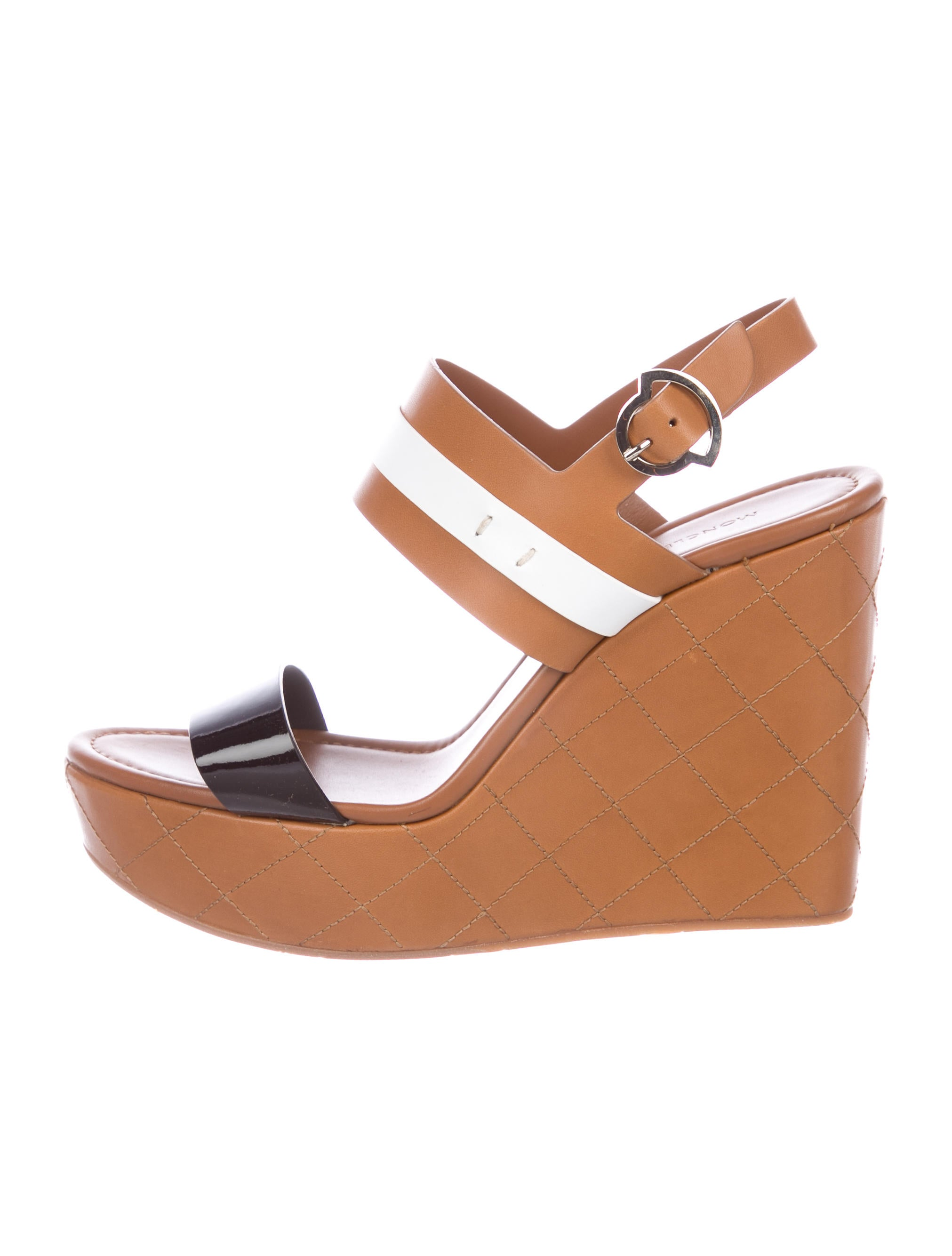 Moncler Guyana Wedge Sandals clearance store sale online mKkoS