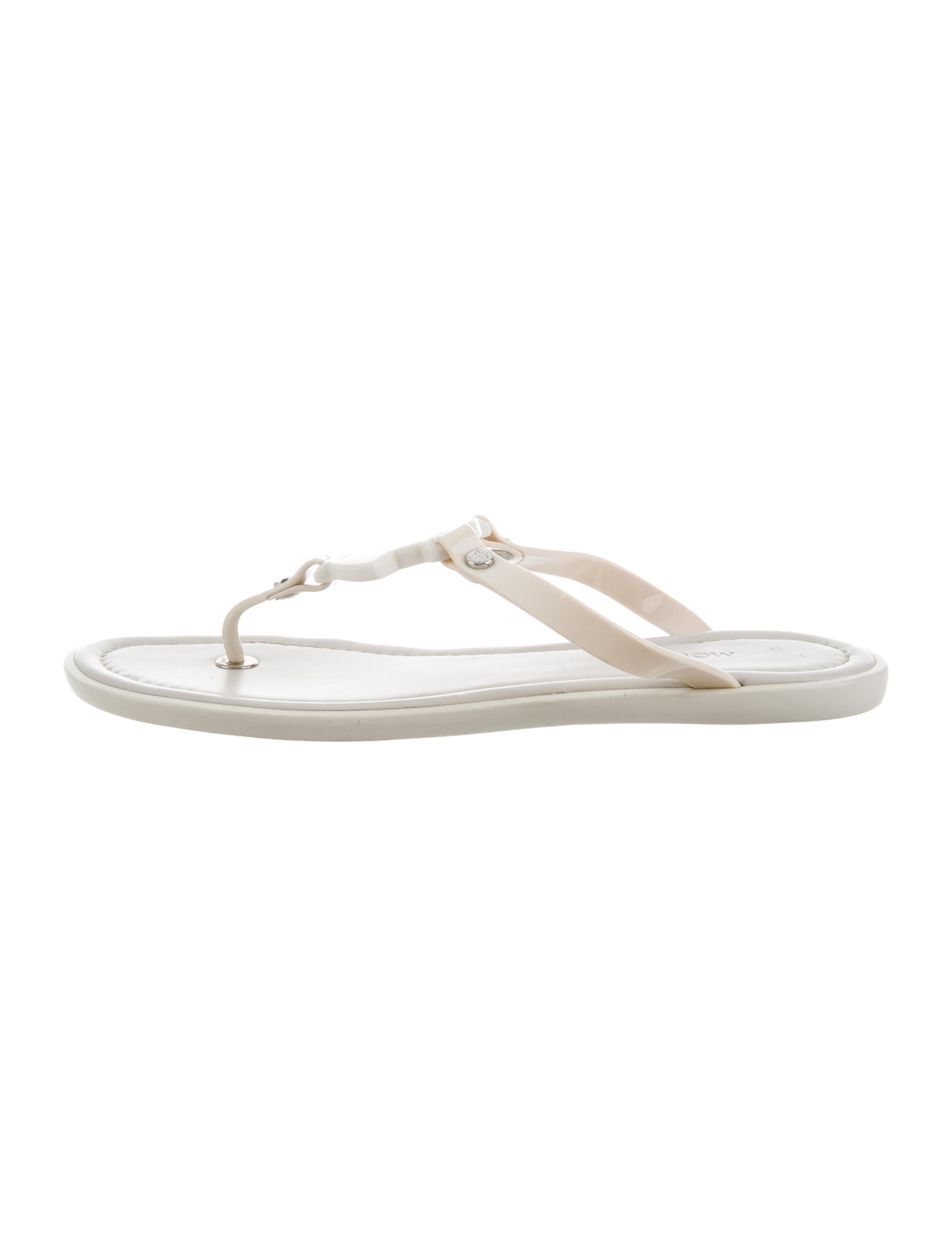 Moncler Logo Thong Sandals discount purchase m6FmTw
