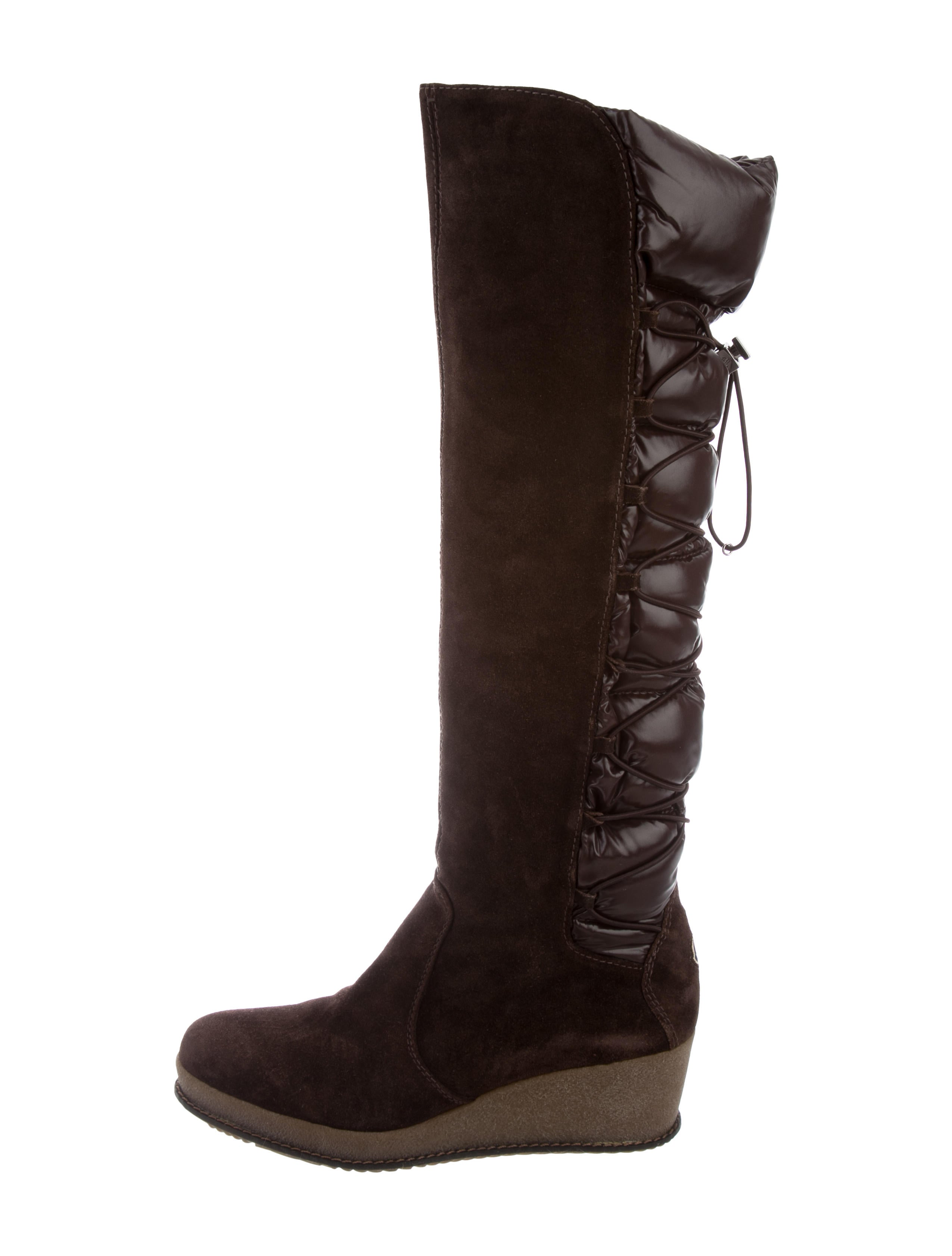Moncler Geneve Wedge Boots - Shoes - MOC29508   The RealReal 1426103c046